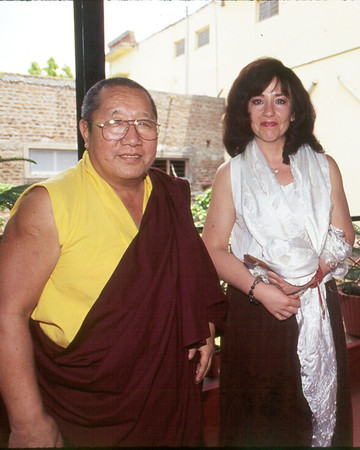 HH Penor Rinpoche outside KPC