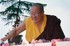 MKR-006_H.H. Penor Rinpoche, with_flowers,  by Mugsang Rinpoche