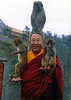 HH Penor Rinpoche with monkeys