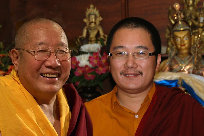 HH Penor Rinpoche with HH Karma Kuchen Rinpoche