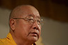 His Holiness, Penor Rinpoche along with Karma Kunchen Rinpoche and entourage visit KPC in Poolesville, Maryland, August 21-25, 2003.<br /> Photo by Mannie Garcia
