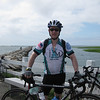 One of my favorite pictures at the Provincetown finish line...the Provinceland waters are behind me and the day's ride is done.