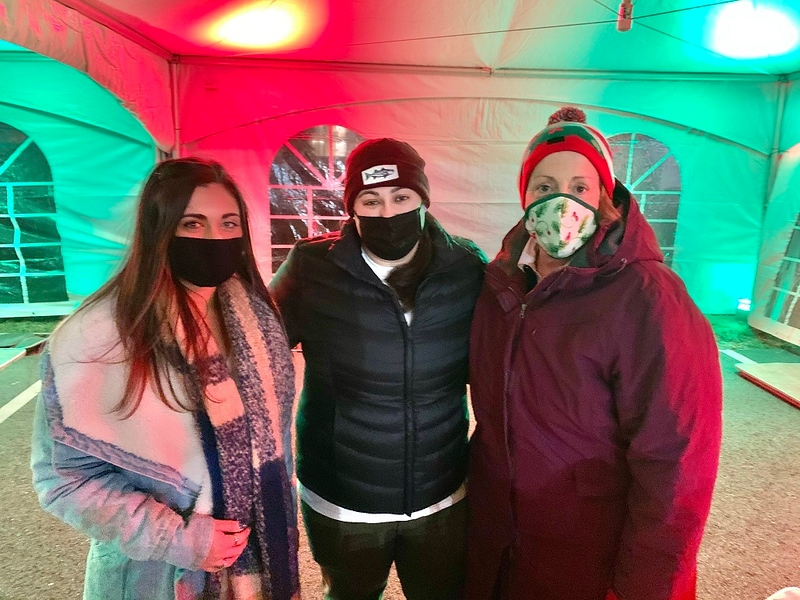 From left, Alex and Giana Panagiotakos and Anne Sepe, all of Lowell