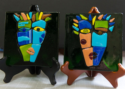 "5"" Masks - to be framed"