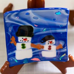"snowman 5"" candy dish"