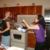 Aluminum foil queens. The roll got away from Mariana, fell all over the place