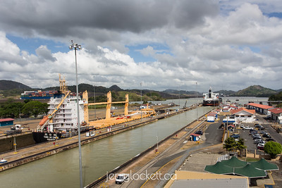 Ship exiting Miraflores Locks