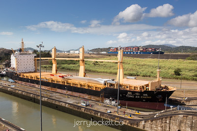 Ship in Miraflores Locks