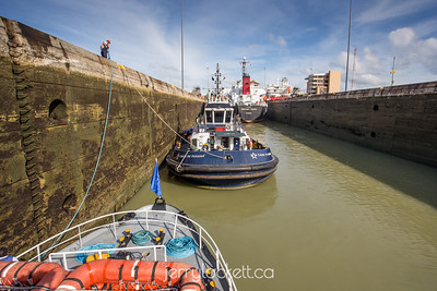 Locking through Miraflores Locks