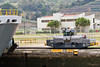 Panama Canal Panama Canal - one of several machine on each side of the ship to prevent scraping the side of the canal.