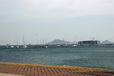 Amador Cuseway;Panamá; Panamá Canal Pacific entrance;