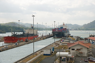 Panama Canal, Pacific side.  Miraflores