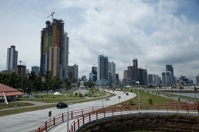 The new Avenida Balboa, bay of Panama, Panamá