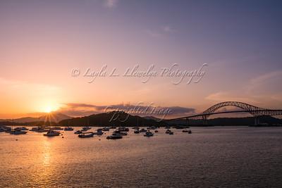 Bridge of the Americas at Sunset