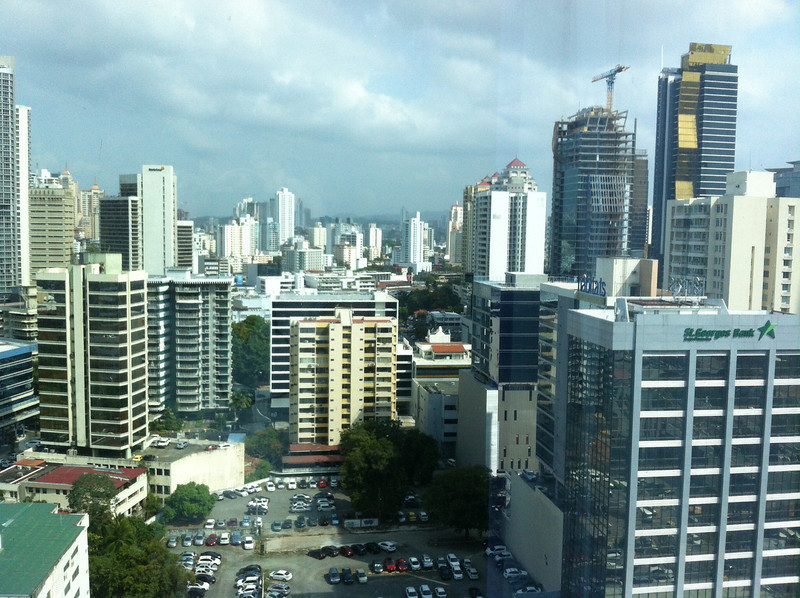 View from our room at Riu Plaza in Panama City, Panama.
