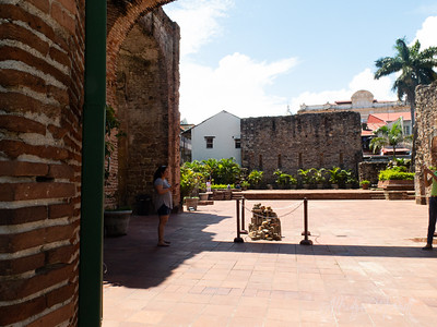 The Flat Arch of the Church and Convent  Santo Domingo in Panama City's Casco Viejo