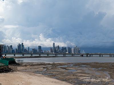 View from Casco Viejo, Panama City skyline