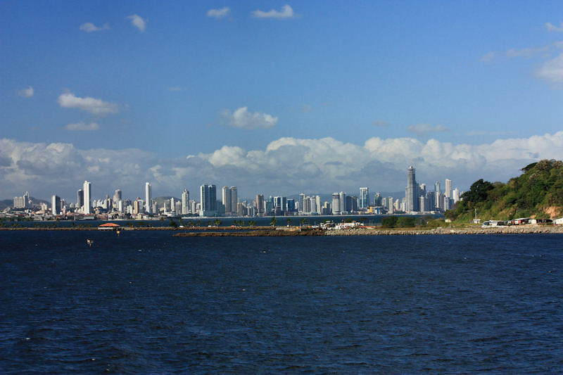 Panama City overlooking Fuerto Amador .. west entrance to Canal