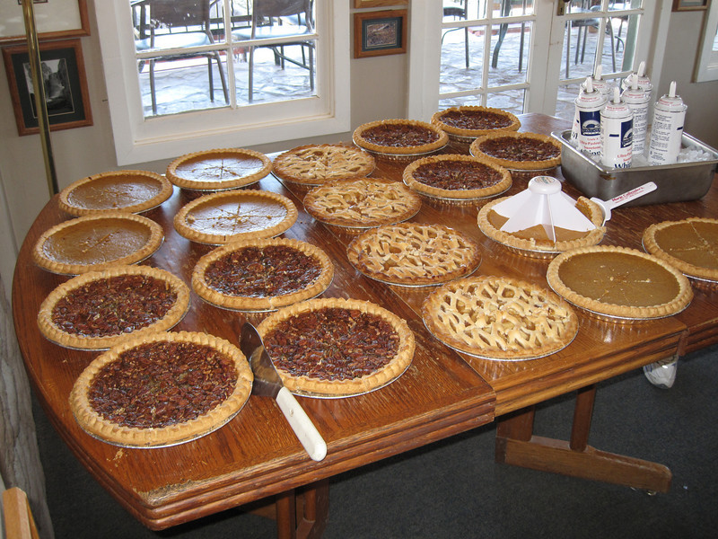 Pies, we have lots of pies.