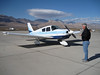 My pilot for the trip from San Jose to Panamint Valley. Tim owns the Panamint Springs Resort.