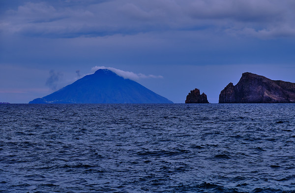stromboli seen from panarea