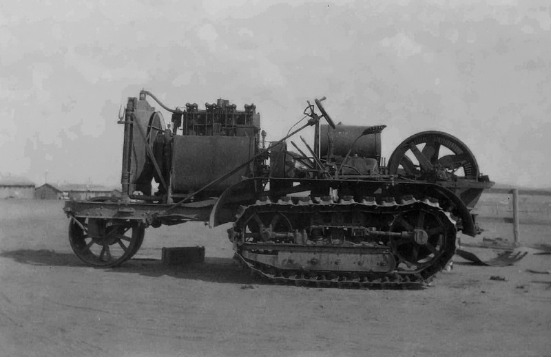Holt 75hp single wheel tractor.