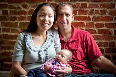 Newborn and Family Portrait in their home