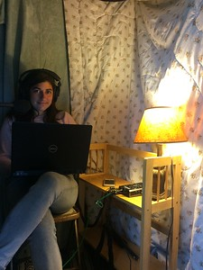 Suzanne In Her Home Studio