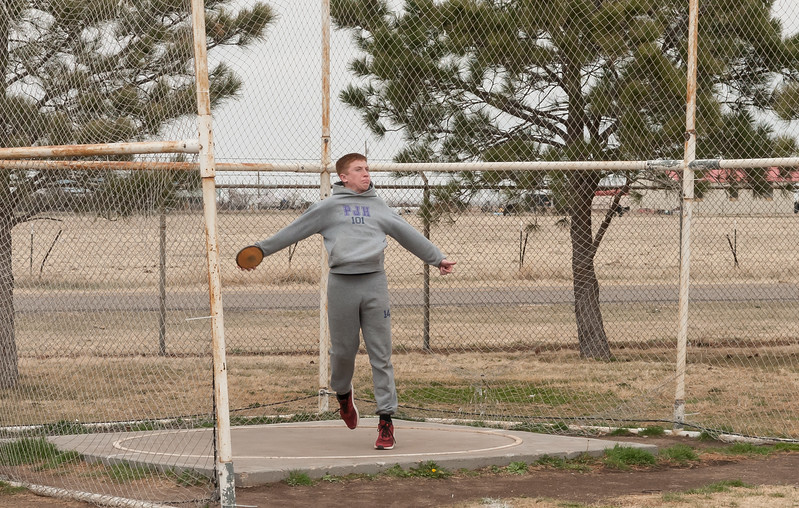 Panhandle Track, Panthers 8th, Shot and Disc, 3-10-2017