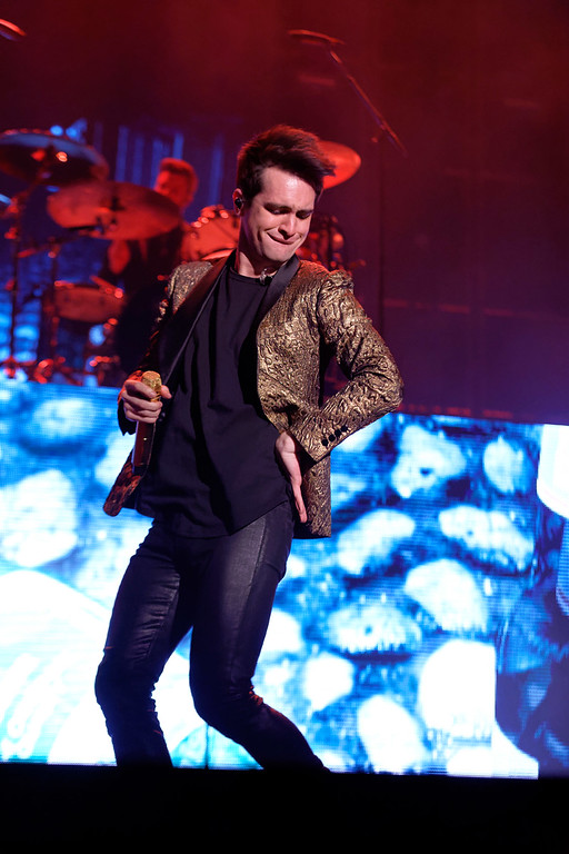 . Panic! At  The Disco live at The Palace Of Auburn Hills  on 3-10-2017. Photo credit: Ken Settle