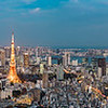 Tokyo Bay with Tokyo Tower - For panels up to 800 cm wide.