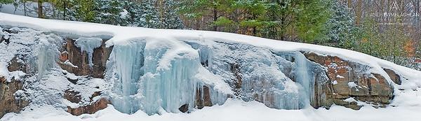 Ice and Rock, Muskoka, Ontario, Canada