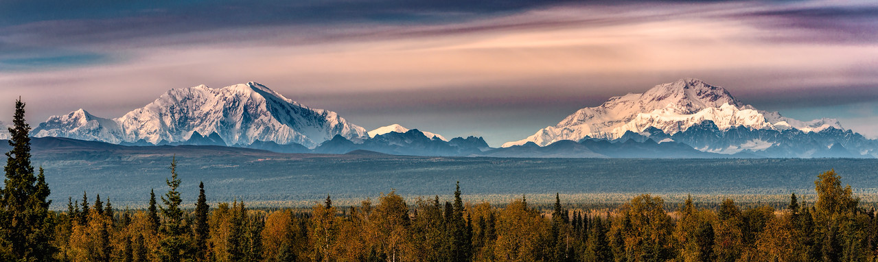 Mt. Denali and Foraker