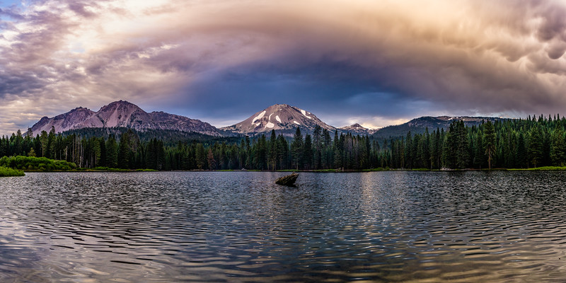 SUMMER STORM OVER MT. LASSEN | CALIFORNIA