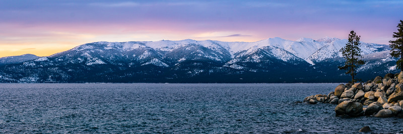 LAKE TAHOE SUNSET - CHIMNEY BEACH