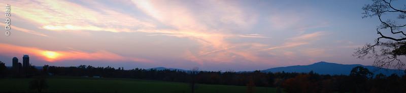 Mt. Monadnock at Sunset over Sawyer Farm