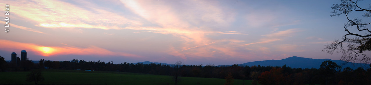 Mt. Monadnock at Sunset over Sawyer Farm