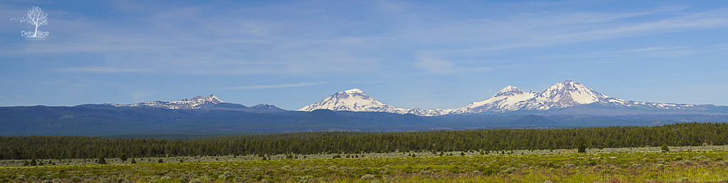 Sister's Range as viewed from Bend, OR