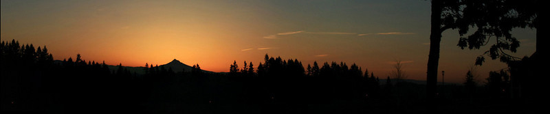 Sunrise Mt Hood Panorama