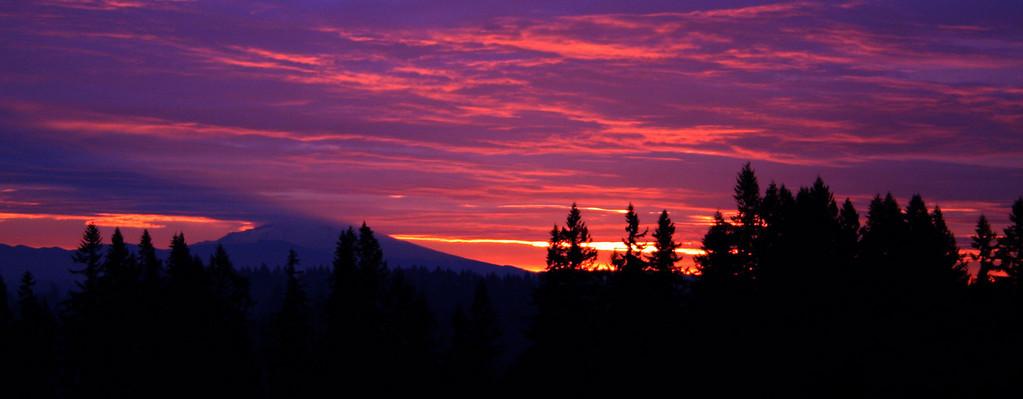Mt Hood Dramatic Sunrise