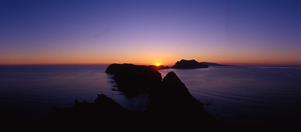 California, Channel Islands National Park, Anacapa Island, Sunset at Inspiration Point