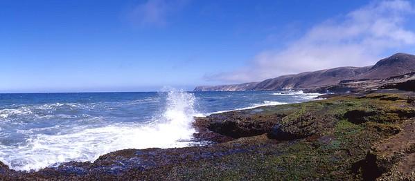 California, Channel Islands National Park, Santa Rosa Island, Lobo Canyon mouth area