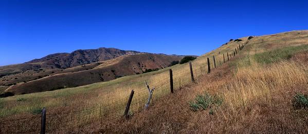California, Channel Islands National Park, Santa Cruz Island, Montanon Ridge from Smugglers field