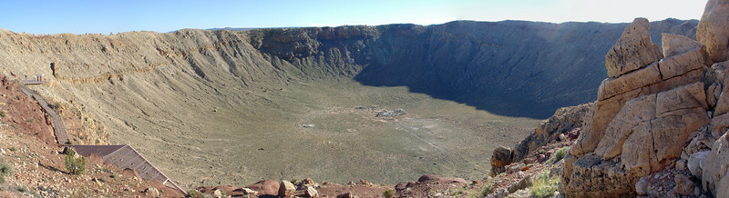 "Meteor Crater is a meteorite impact crater located approximately 43 miles east of Flagstaff, near Winslow in the northern Arizona desert of the United States.<br /> <br />  <a href=""http://www.meteorcrater.com/"">http://www.meteorcrater.com/</a>"