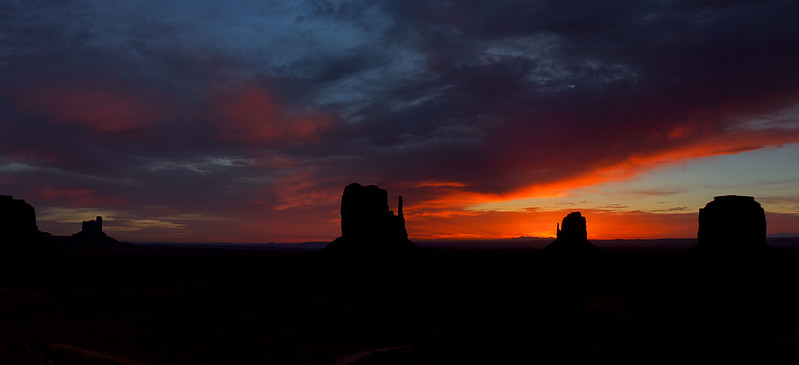 Dawn. Monument Valley, Navajo Nation.