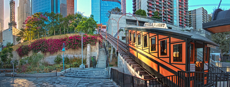 Latest home of Angels Flight, below California Plaza. Los Angeles