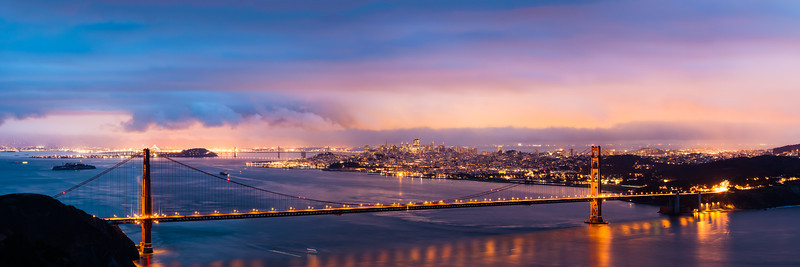 Golden Gate Dawn Pano