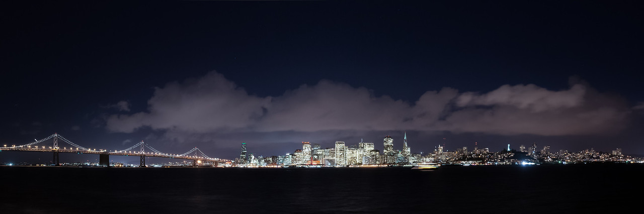 San Francisco From Treasure Island Night<br /> San Francisco, CA