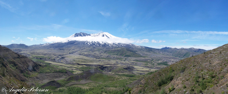 Mt. St. Helens view of the crater