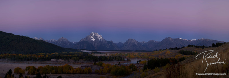 Predawn Glow (Belt of Venus) Over OxBow Bend